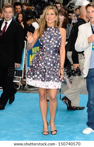 Jennifer Aniston arriving for the 'We're The Millers' European Premiere, Odeon West End, London. 14/08/2013 - stock photo