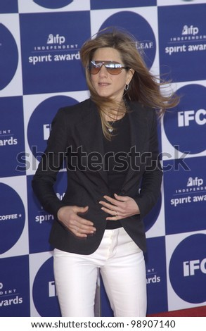 JENNIFER ANISTON at the 2004 IFP Independent Spirit Awards on the beach at Santa Monica, CA. February 28, 2004 - stock photo