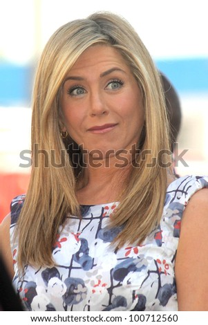 Jennifer Aniston at the Jennifer Aniston Star on the Hollywood Walk Of Fame, Hollywood, CA 02-22-12 - stock photo