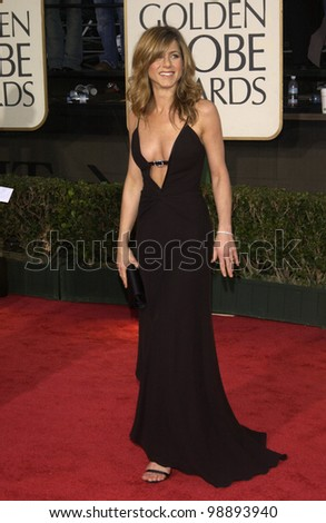 JENNIFER ANISTON at the 61st Annual Golden Globe Awards at the Beverly Hilton Hotel, Beverly Hills, CA. January 25, 2004 - stock photo