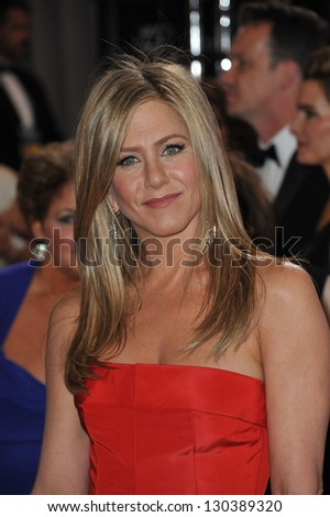 Jennifer Aniston at the 85th Academy Awards at the Dolby Theatre, Hollywood. February 24, 2013  Los Angeles, CA Picture: Paul Smith - stock photo