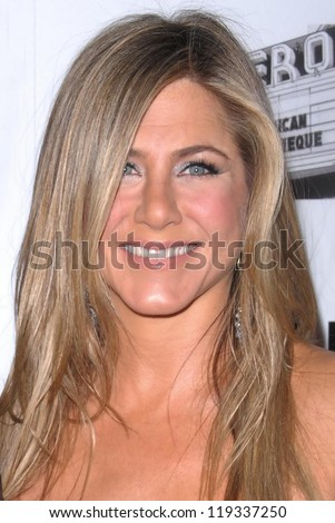 Jennifer Aniston at the 26th American Cinematheque Award Honoring Ben Stiller, Beverly Hilton Hotel, Beverly Hills, CA 11-15-12 - stock photo