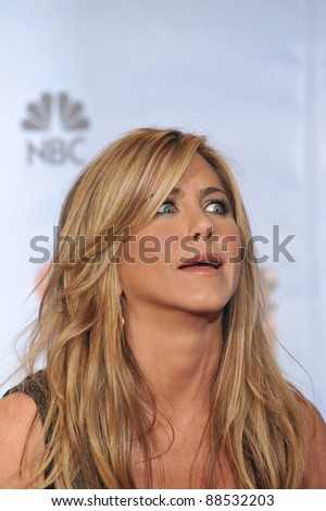 Jennifer Aniston at the 67th Golden Globe Awards at the Beverly Hilton Hotel. January 17, 2010  Beverly Hills, CA Picture: Paul Smith / Featureflash - stock photo