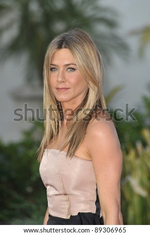 "Jennifer Aniston at the world premiere of her new movie ""The Switch"" at the Cinerama Dome, Hollywood. August 16, 2010  Los Angeles, CA Picture: Paul Smith / Featureflash - stock photo"