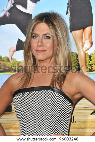 "Jennifer Aniston at the world premiere of her new movie ""Wanderlust"" at the Mann Village Theatre, Westwood.  February 16, 2012  Los Angeles, CA Picture: Paul Smith / Featureflash - stock photo"