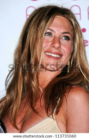 Jennifer Aniston in the press room at The 33rd Annual People's Choice Awards. Shrine Auditorium, Los Angeles, CA. 01-09-07 - stock photo
