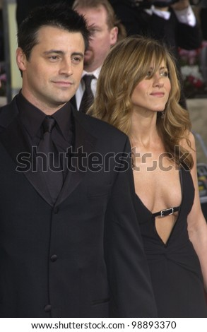 JENNIFER ANISTON & MATT LEBLANC at the 61st Annual Golden Globe Awards at the Beverly Hilton Hotel, Beverly Hills, CA. January 25, 2004 - stock photo