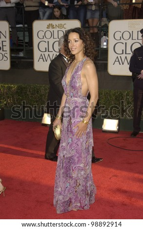 JENNIFER BEALS at the 61st Annual Golden Globe Awards at the Beverly Hilton Hotel, Beverly Hills, CA. January 25, 2004 - stock photo