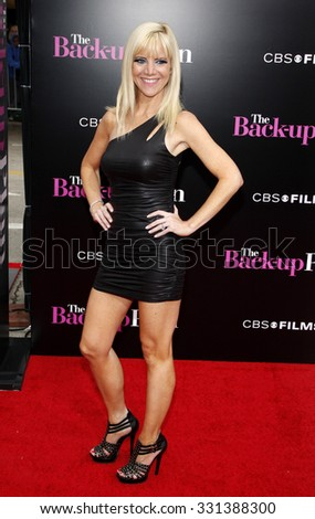 """Jennifer Elise Cox at the Los Angeles premiere of """"The Back-Up Plan"""" held at the Westwood Village Theater in Hollywood, USA on April 21, 2010. - stock photo"""