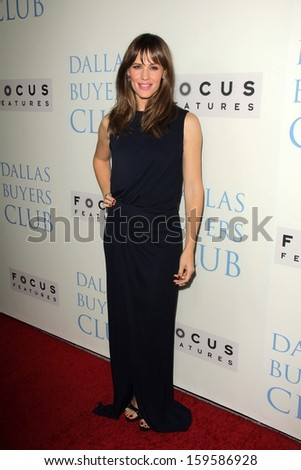 """Jennifer Garner at the """"Dallas Buyers Club"""" Los Angeles Premiere, Academy of Motion Picture Arts and Sciences, Beverly Hills, CA 10-17-13 - stock photo"""