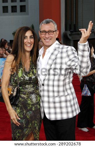Jennifer Gibgot and Adam Shankman at the Los Angeles premiere of 'Step Up Revolution' held at the Grauman's Chinese Theatre in Hollywood on July 17, 2012.  - stock photo