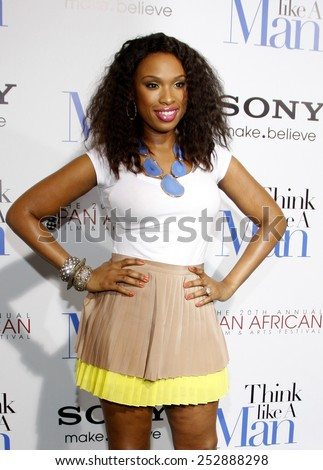 "Jennifer Hudson at the Los Angeles Premiere of ""Think Like a Man"" held at the Cinemadrome Theatre in Los Angeles, California, United States on February 9, 2012.  - stock photo"