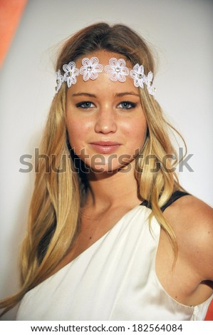 Jennifer Lawrence at 6th Annual TEEN VOGUE Young Hollywood Party, Los Angeles County Museum of Art, LACMA,, Los Angeles, CA, September 18, 2008 - stock photo