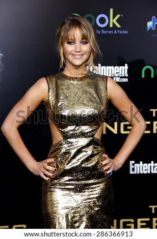 Jennifer lawrence 2012 stock images royalty free images vectors jennifer lawrence at the los angeles premiere of the hunger games held at the voltagebd Image collections