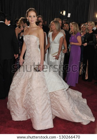 Jennifer Lawrence at the 85th Academy Awards at the Dolby Theatre, Hollywood. February 24, 2013  Los Angeles, CA Picture: Paul Smith - stock photo
