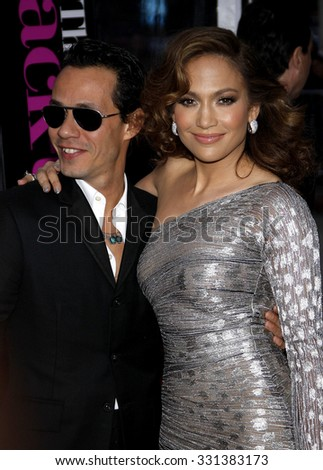 "Jennifer Lopez and Marc Anthony at the Los Angeles premiere of ""The Back-Up Plan"" held at the Westwood Village Theater in Hollywood, USA on April 21, 2010."
