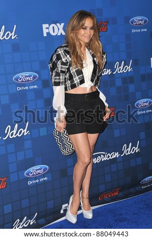 Jennifer Lopez at the American Idol Finalists Party at The Grove Los Angeles. March 3, 2011  Los Angeles, CA Picture: Paul Smith / Featureflash - stock photo