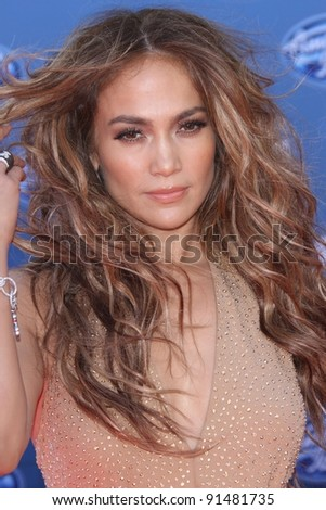 "Jennifer Lopez at the ""American Idol"" Season 10 Finale Arrivals, Nokia Theatre L.A. Live, Los Angeles, CA. 05-25-11 - stock photo"