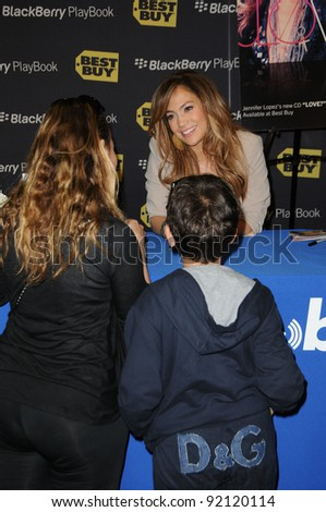Jennifer Lopez at the Launch of the  BlackBerry PlayBook Tablet, Best Buy, West Los Angeles, CA. 04-19-11