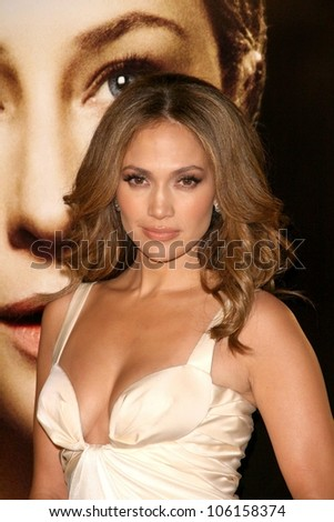Jennifer Lopez   at the Los Angeles Premiere of 'The Curious Case of Benjamin Button'. Mann's Village Theater, Westwood, CA. 12-08-08 - stock photo