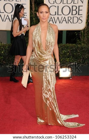 Jennifer Lopez at the 66th Annual Golden Globe Awards. Beverly Hilton Hotel, Beverly Hills, CA. 01-11-09 - stock photo