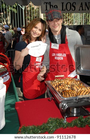 Jennifer Love Hewitt and Ross McCall at the Los Angeles Mission's Christmas Eve Dinner for the Homeless. Los Angeles Mission, Los Angeles, CA. 12-24-07