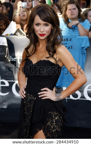 Jennifer Love Hewitt at the Los Angeles premiere of 'The Twilight Saga: Eclipse' held at the Nokia Theatre L.A. Live in Los Angeles on June 24, 2010.  - stock photo