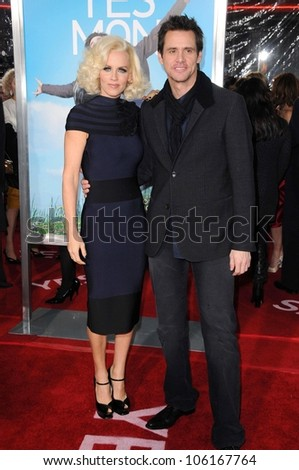 Jenny McCarthy and Jim Carrey   at the Los Angeles Premiere of 'Yes Man'. Mann VIllage Theater, Westwood, CA. 12-17-08