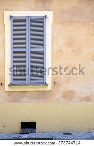jerago window  varese palaces italy   abstract  sunny day    wood venetian blind in the concrete  brick