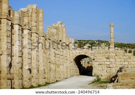 Jerash Ruins - Amman - Jordan - stock photo