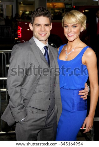 "Jeremy Jordan and Ashley Spencer at the Los Angeles Premiere of ""Joyful Noise"" held at the Grauman's Chinese Theater in Los Angeles, California, United States on January 9, 2012."