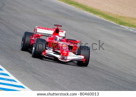 JEREZ DE LA FRONTERA, SPAIN - OCT 10: Marc Gene of Scuderia Ferrari F1 races on training session on October 10 , 2006 in Jerez de la Frontera , Spain