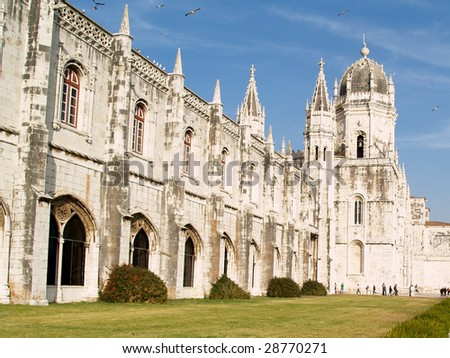 Jeronimo abbey, located in Lisbon, Portugal