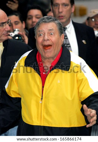 Jerry Lewis at The Late Show with David Letterman, The Ed Sullivan Theater, New York, NY, October 24, 2005 - stock photo