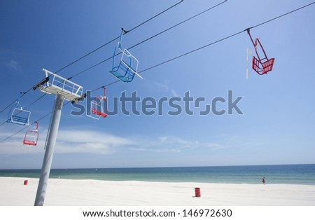 Jersey Shore Chairlift - stock photo