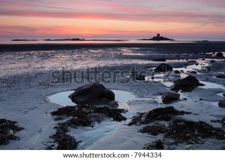 Jersey sunset - stock photo