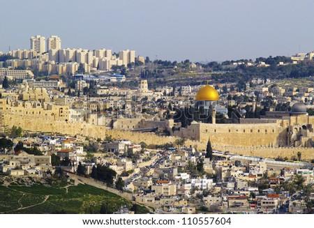 Jerusalem Cityscape, Israel - stock photo