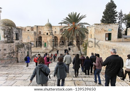 JERUSALEM/ISRAEL - 23 JANUARY 2012: The Wailing Wall - one of the holiest places for people who believe 23 january 2012 Jerusalem. The Wailing Wall - one of the holiest places for people who believe.