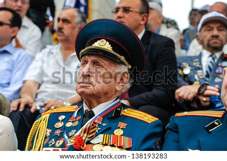 JERUSALEM - MAY 9: World War II Soviet veterans at celebration of 9th may, victory day in Jerusalem, Israel, 9th may, 2013