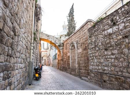 Jerusalem old city - stock photo