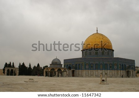 jerusalem old city - wailing wall, dome of the rock. israel