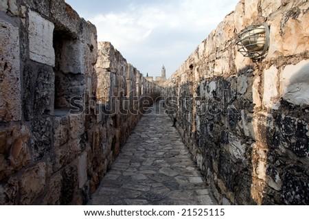 Jerusalem walls - stock photo