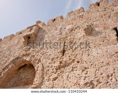 Jerusalem Zion Gate - stock photo