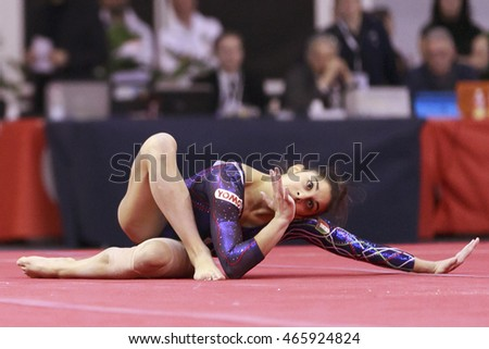 Jesolo, Italy -  19 March 2016: IX Jesolo Gymnastics Trophy Cup, All Around Senior Team