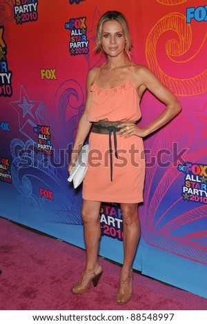 "Jessalyn Gilsig - star of ""Glee"" - at Fox TV's All Star Party at Santa Monica Pier. August 2, 2010  Santa Monica, CA Picture: Paul Smith / Featureflash"