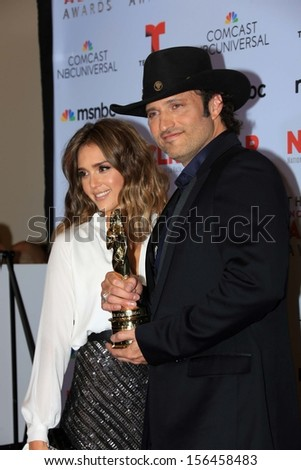 Jessica Alba and Robert Rodriguez at the 2013 NCLR ALMA Awards Press Room, Pasadena Civic Auditorium, Pasadena, CA 09-27-13