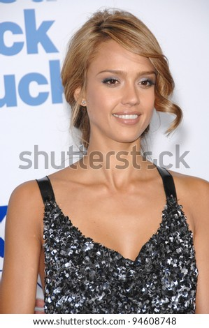 """Jessica Alba at the Los Angeles premiere of her new movie """"Good Luck Chuck"""" at the Mann National Theatre, Westwood, CA. September 20, 2007  Los Angeles, CA Picture: Paul Smith / Featureflash - stock photo"""