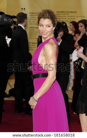 Jessica Biel at OSCARS 79th Annual Academy Awards - ARRIVALS , The Kodak Theatre, Los Angeles, CA, February 25, 2007 - stock photo