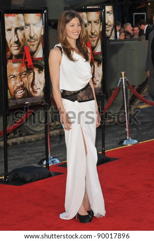 "Jessica Biel at the Los Angeles premiere of her new movie ""The A-Team"" at Grauman's Chinese Theatre, Hollywood. June 3, 2010  Los Angeles, CA Picture: Paul Smith / Featureflash"