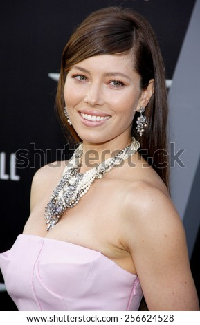 """Jessica Biel at the Los Angeles premiere of """"Total Recall"""" held at the Grauman's Chinese Theatre in Los Angeles, California, United States on August 1, 2012.  - stock photo"""